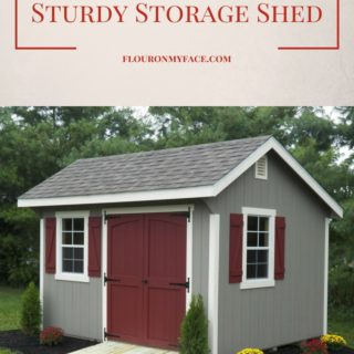 How to build a sturdy storage shed via flouronmyface.com