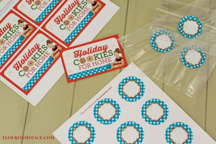 Christmas Cookie Exchange Printables via flouronmyface.com