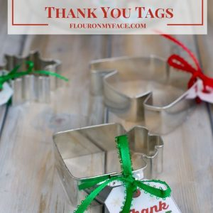 Christmas Cookie Exchange Thank You Tag Free Printable via flouronmyface.com