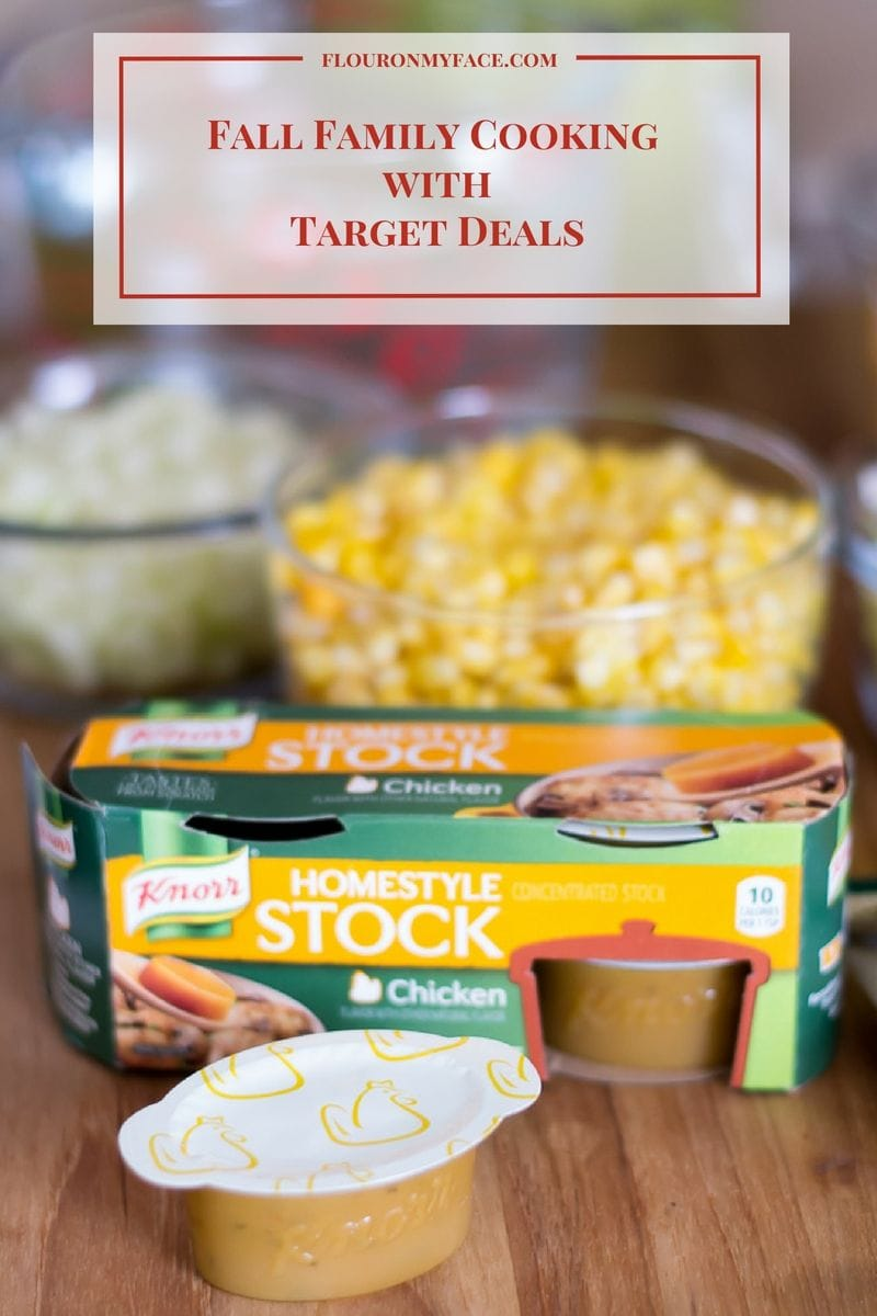 Fall family recipe Squash Corn Chowder ingredients. Cooking with the kids recipe via flouronmyface.com #ad #FallFamilyCooking
