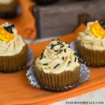 Halloween Pumpkin Cupcake Recipe with Pumpkin Butter Cream Frsting recipe via flouronmyface.com