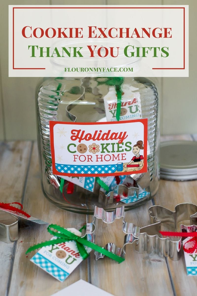 Christmas cookie exchange thank you gift tags flour on Good gifts for gift exchange