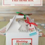 Free Printable Christmas Cookie Exchange Take Home Box Label