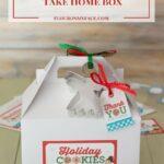 Free Printable Christmas Cookie Exchange Take Home Box Label
