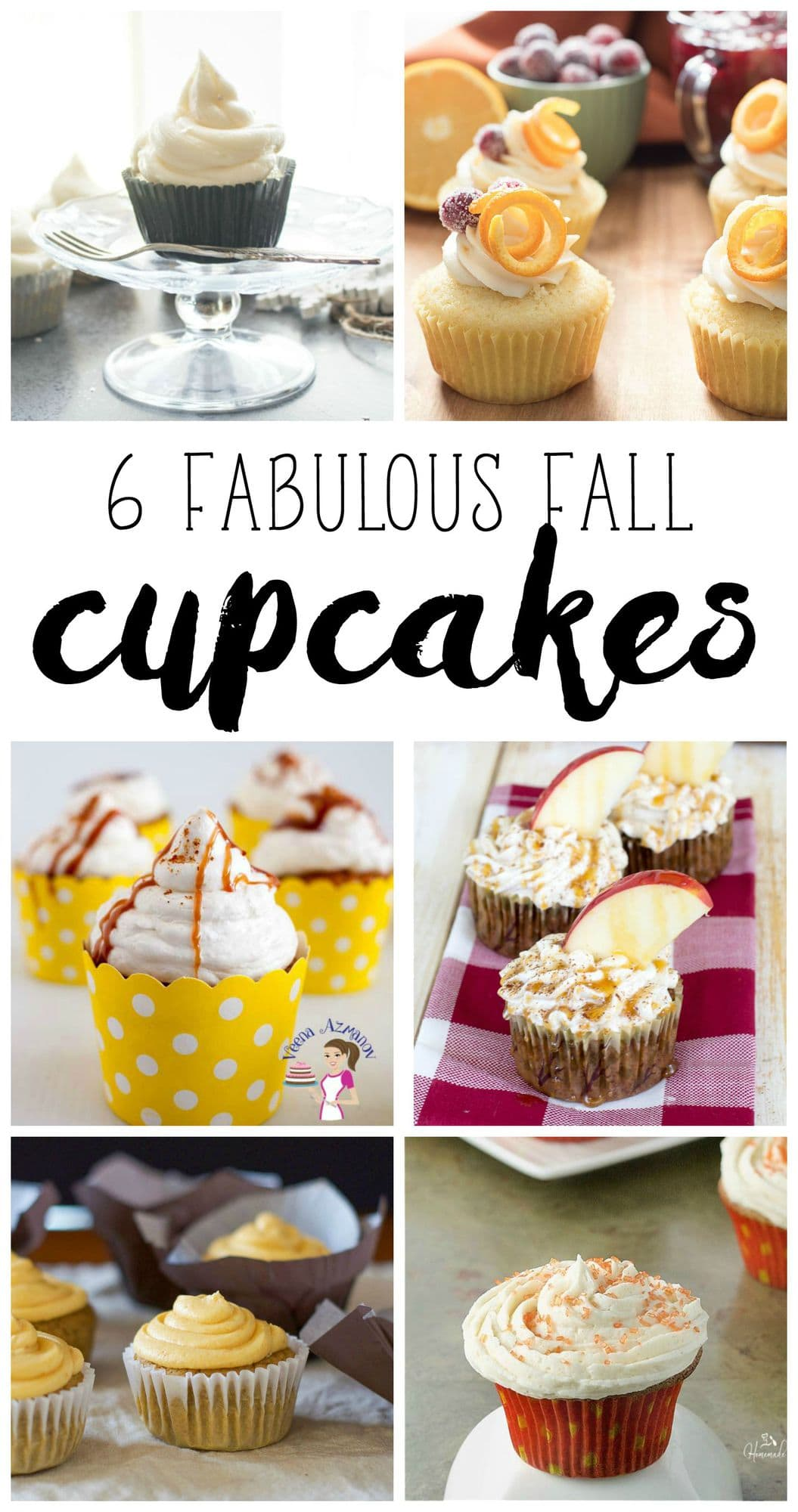 6 Fabulous Fall Cupcakes Recipes via #foodbloggenious flouronmyface.com