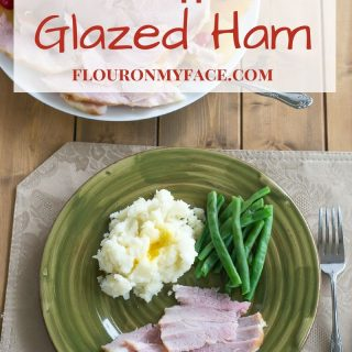 Brown Sugar Pineapple Glazed Holiday Ham recipe via flouronmyface.com