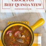 Healthy Crock Pot Beef Quinoa Stew