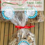 Free Printable Christmas Cookie Exchange Round Labels to decorate your cookie swap baggies via flouronmyface.com