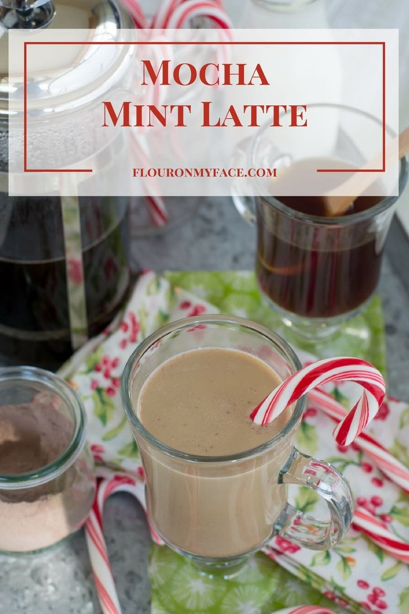 Mocha Mint Latte recipe made with New England Mocha Mint coffee blend via flouronmyface.com #ad #YouAreExtraordinary #NewEnglandCoffee