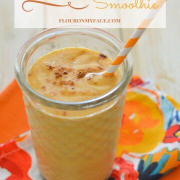 Pumpkin Smoothie recipe via flouronmyface.com