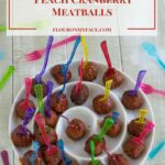 Crock Pot Peach Cranberry Meatballs