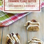 No-Bake Cinnamon Peanut Butter Cranberry Cookies #FoodBlogGenius
