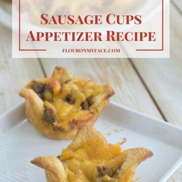 Holiday Sausage Cups Appetizer recipe via flouronmyface.com #ad #clubtysontwist