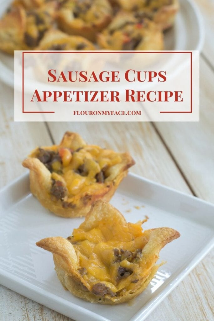 Holiday Sausage Cups Appetizer recipe via flouronmyface.com #ad #clubtysontwist