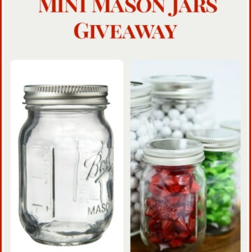 Enter the Ball MIni Mason Jars & New smooth sided Quart Mason Jar Giveaway via flouronmyface.com
