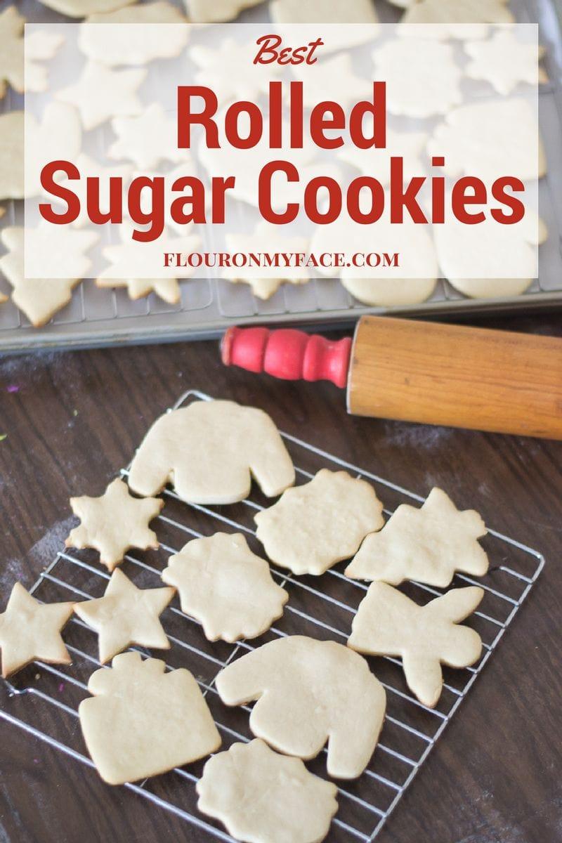 Best Rolled Sugar Cookie Recipe via flouronmyface.com
