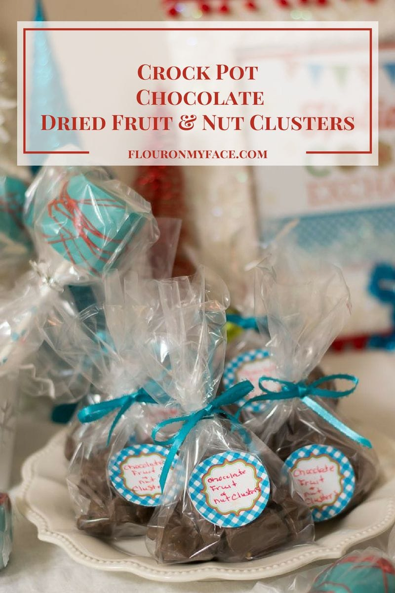 Homemade Christmas Candy Recipe: Crock Pot Chocolate Dried Fruit Nut Clusters via flouronmyface