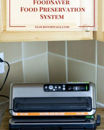 Foodsaver Vacuum Sealing System for freezer meals.