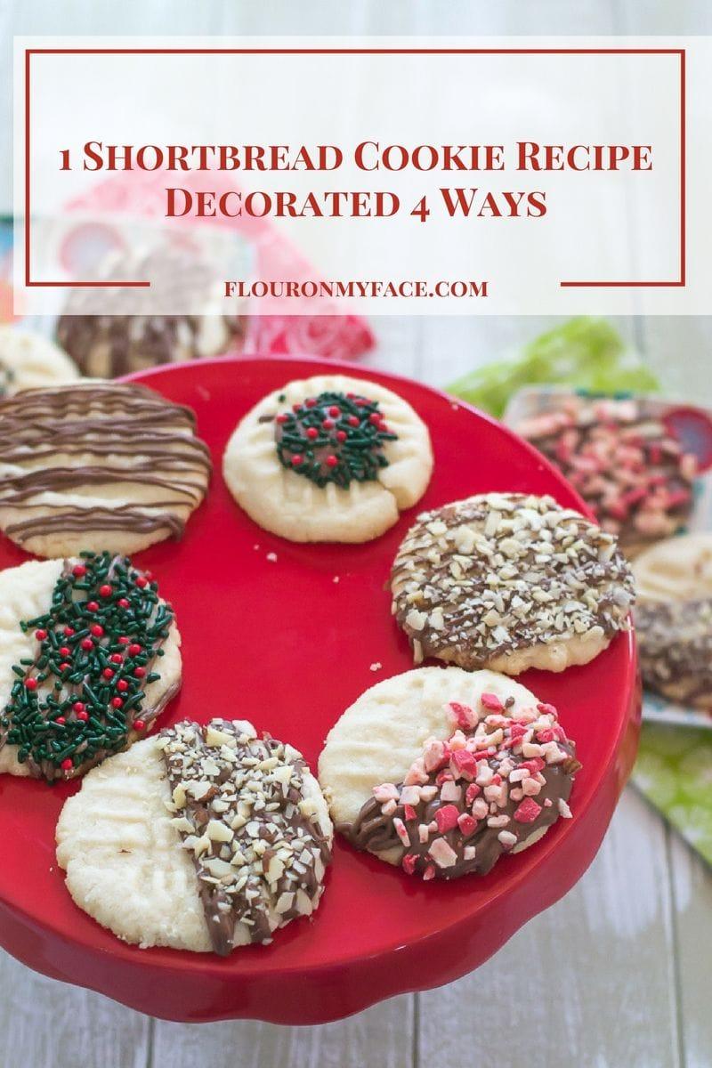 Easy Chocolate Dipped Shortbread Cookies via flouronmyface.com