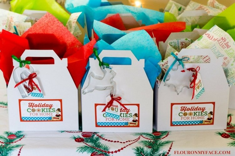 Christmas Cookie Exchange Gift Boxes