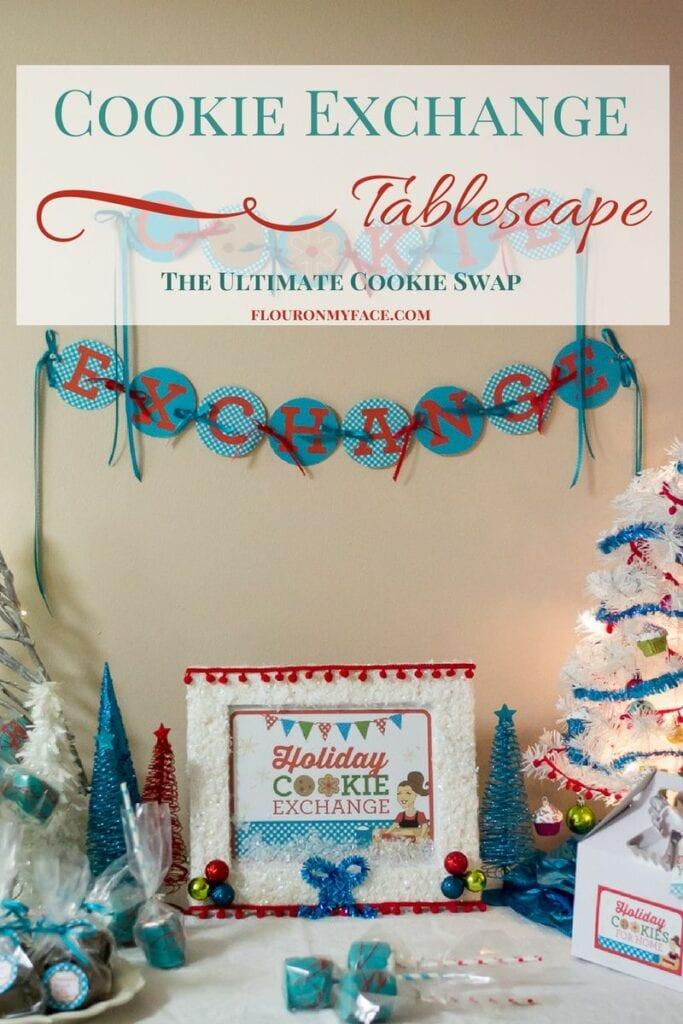 Cookie Exchange Tablescape via flouronmyface.com