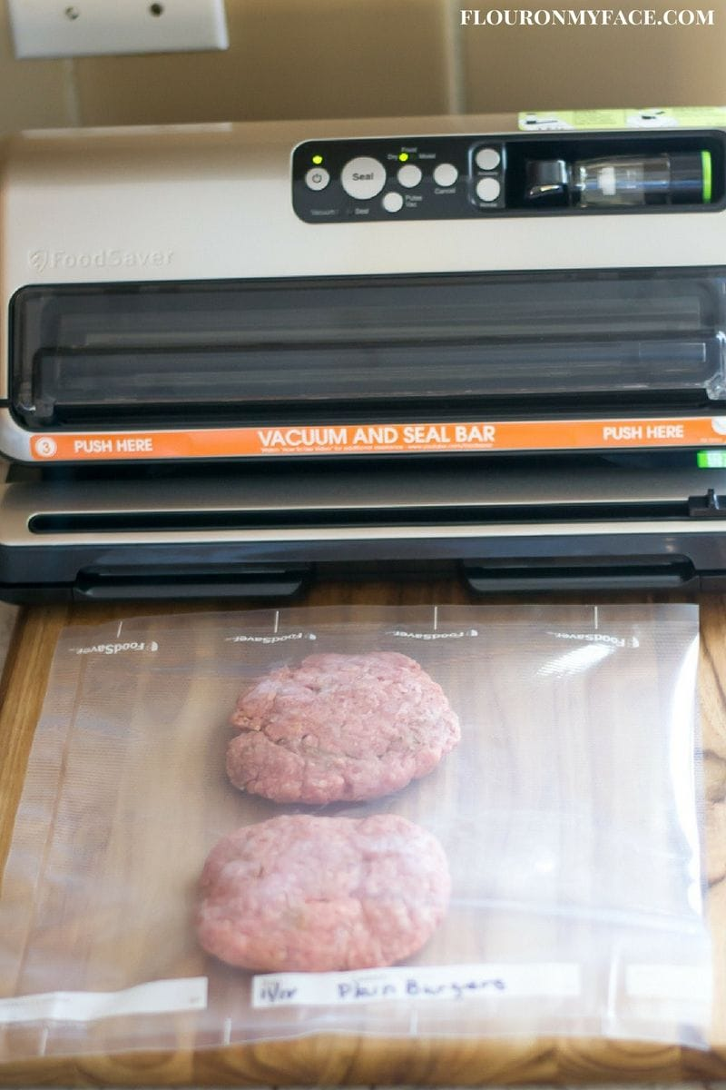 Premade Hamburger Patties with the FoodSaver via flouronmyface.com