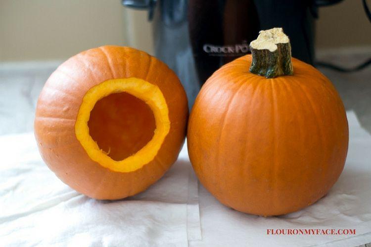 pumpkin pie pumpkin cooked in a crock pot via flouronmyface.com