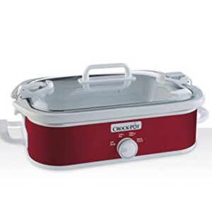 3.5 Manual Crock POt Casserole Slow Cooker Red