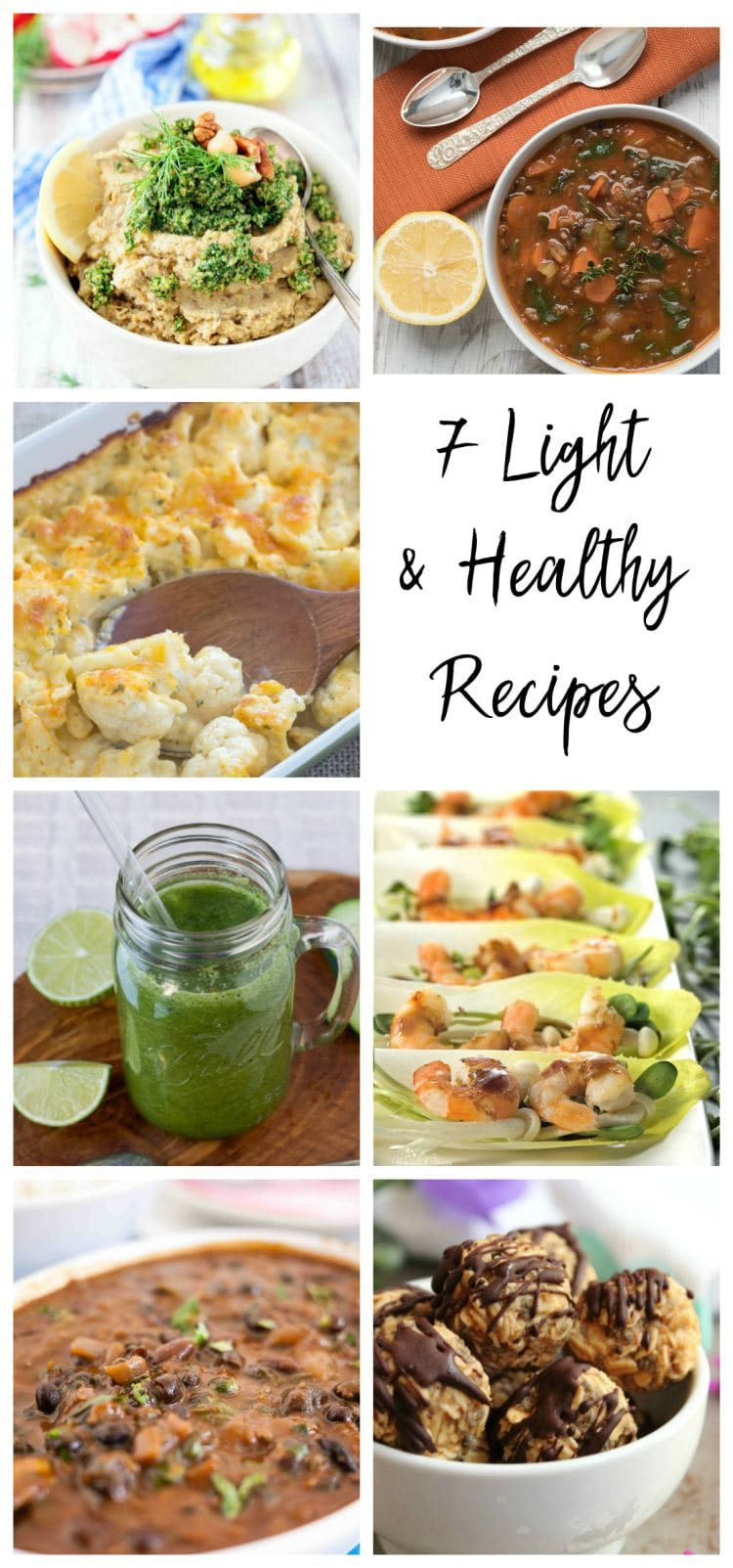 7 Light and Healthy Recipes from #foodblogtribe via flouronmyface.com