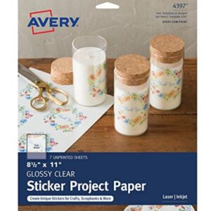 Avery Full Sheet Clear Sticker Paper