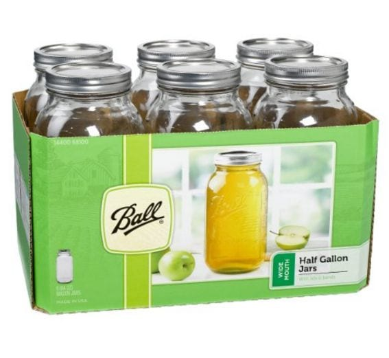 Ball Half Gallon Wide Mouth Jars, set of 6