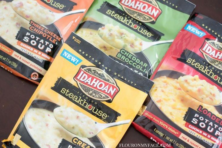 Idahoan Steakhouse Potato Soups flavors via flouronmyface.com #ad