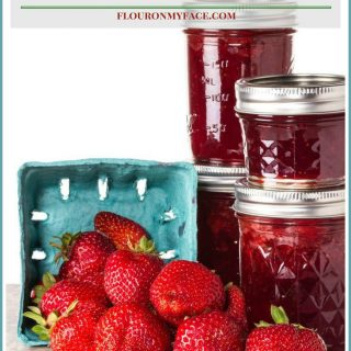 Homemade Strawberry Jam recipe via flouronmyface.com