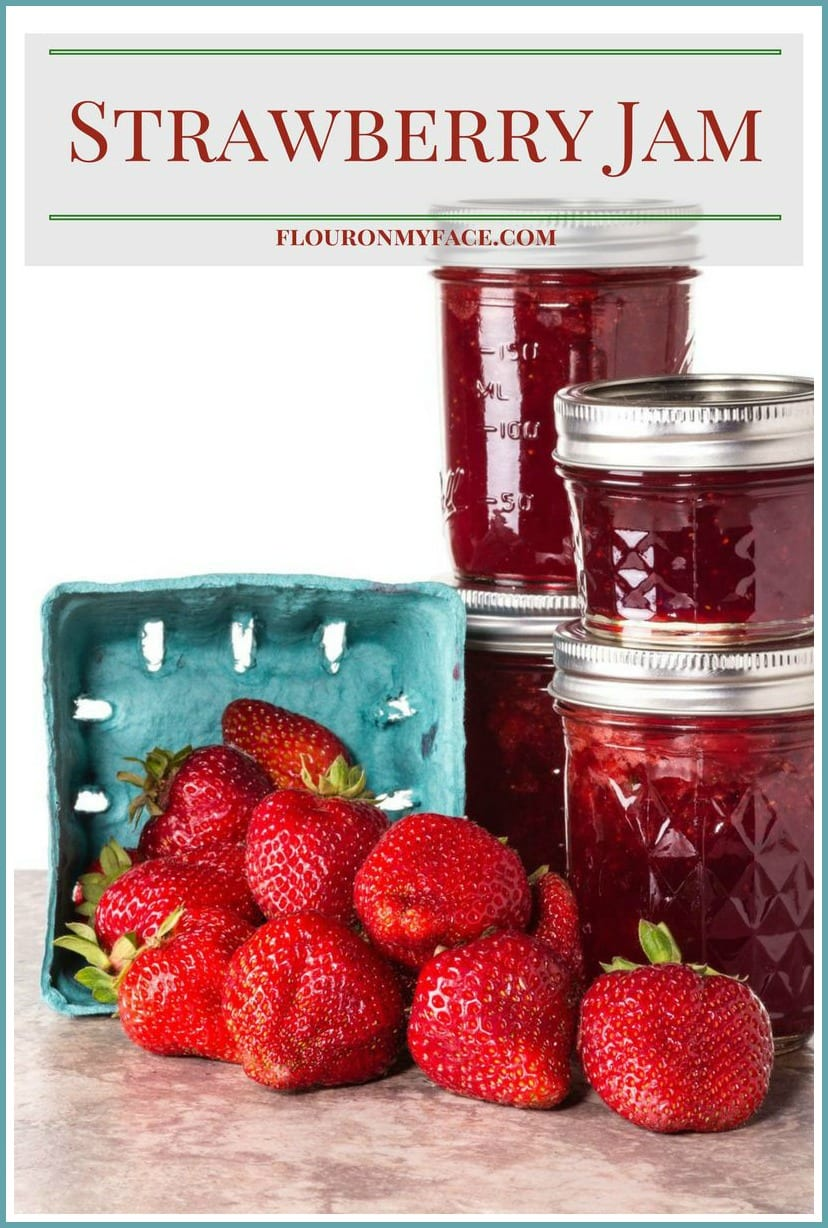 Homemade Strawberry Jam recipe via flouronmyface.com