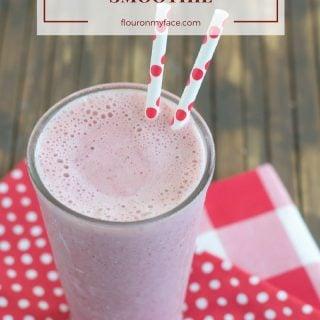 Sweet Cherry Kefir Smoothie recipe via flouronmyface.com