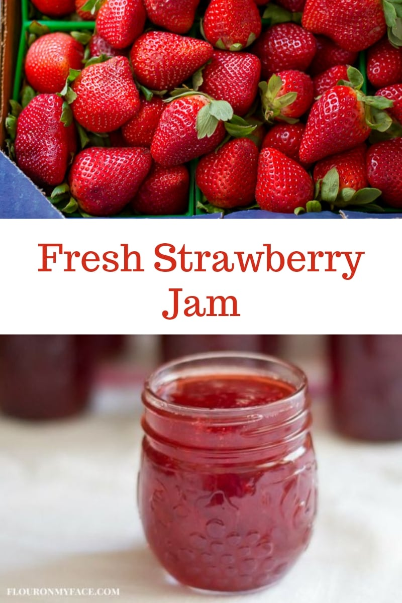 Fresh Florida strawberry's made into strawberry jam