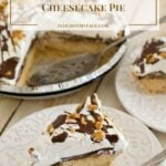 No-Bake Peanut Butter Caramel Cheesecake Pie