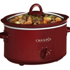 4 quart Crock Pot Oval Manual-Red