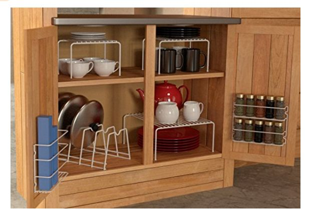 6 Piece under the Cabinet Organizer in white