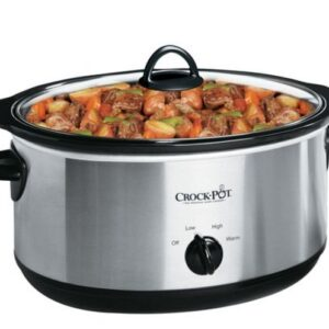 7-Quart Oval Crock Pot Slow Cooker Stainless Steel
