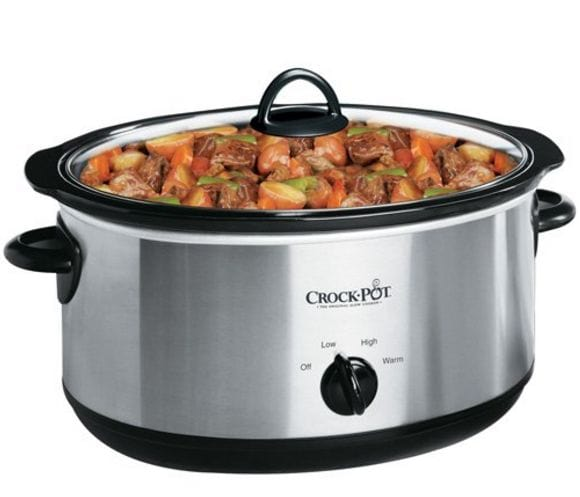 7-Quart Oval Crock Pot Slow Cooker Stainless Steel