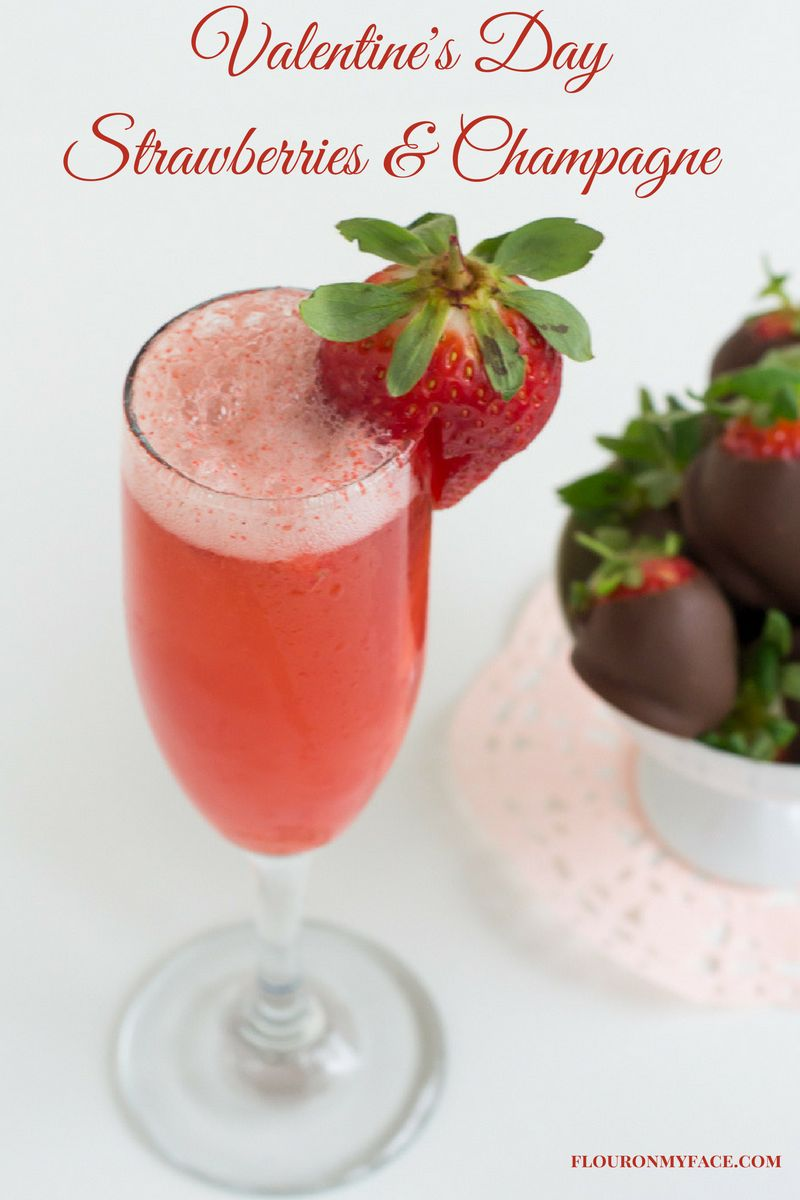 Chocolate Covered Strawberries and Champagne for Valentines Day via flouronmyface.com