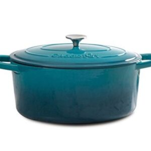 Crock Pot Artisan Cast Iron Dutch Oven 7 quart-Teal
