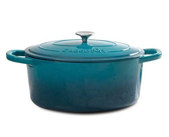 Crock Pot Artisan Cast Iron Dutch Oven 7 quart-Teal