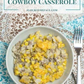 Crock Pot Cowboy Casserole recipe via flouronmyface.com