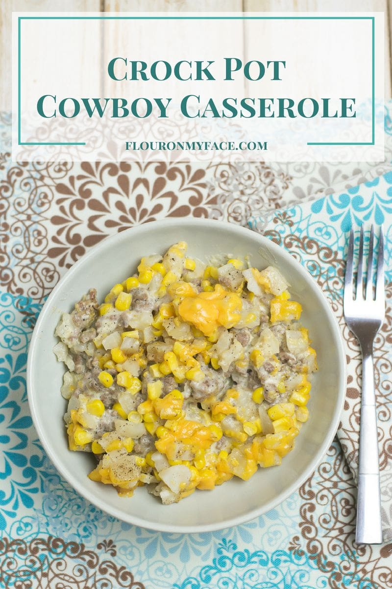 Crock Pot Cowboy Casserole in a bowl