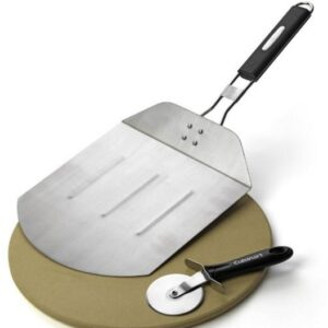 Cuisinart Pizza Grilling Set includes a pizzapeel, pizza stone and pizza cutter