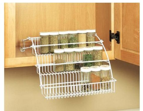 Rubbermaid Pull Down wire Spice Rack-White