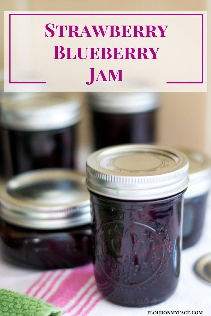 Strawberry Blueberry Jam recipe via flouronmyface.com