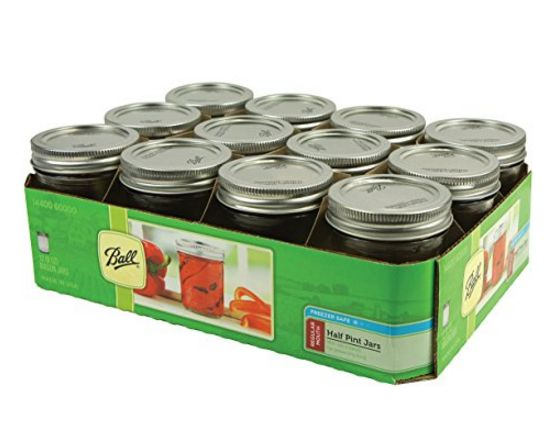 Ball Half Pint regular mouth jam jars